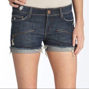 DL1961 X Fit Stretch STELLA denim shorts cuffed